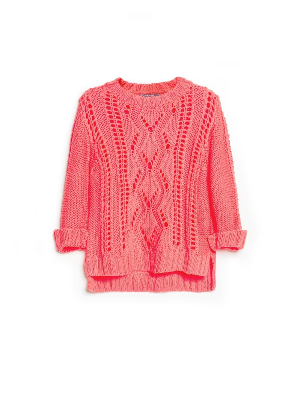 Openwork detail sweater