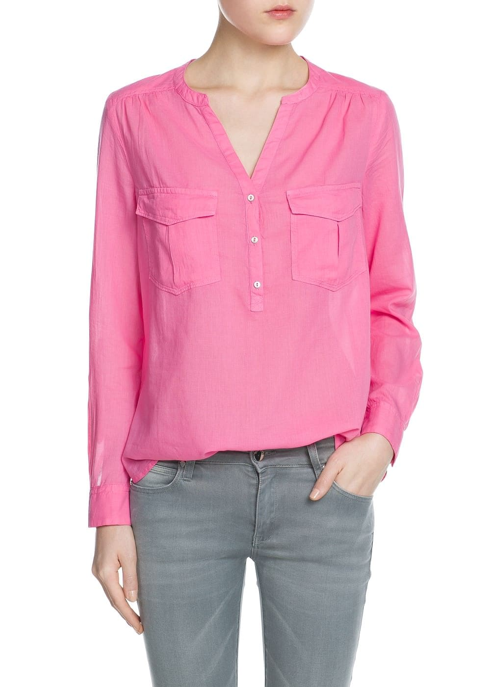 Pocket cotton blouse