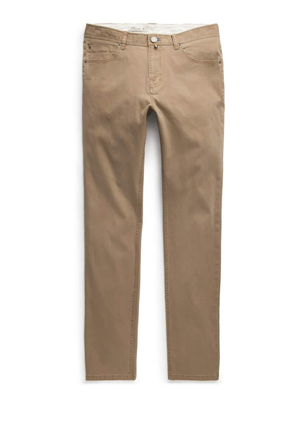 Slim-fit 5 pocket cotton trousers | MANGO