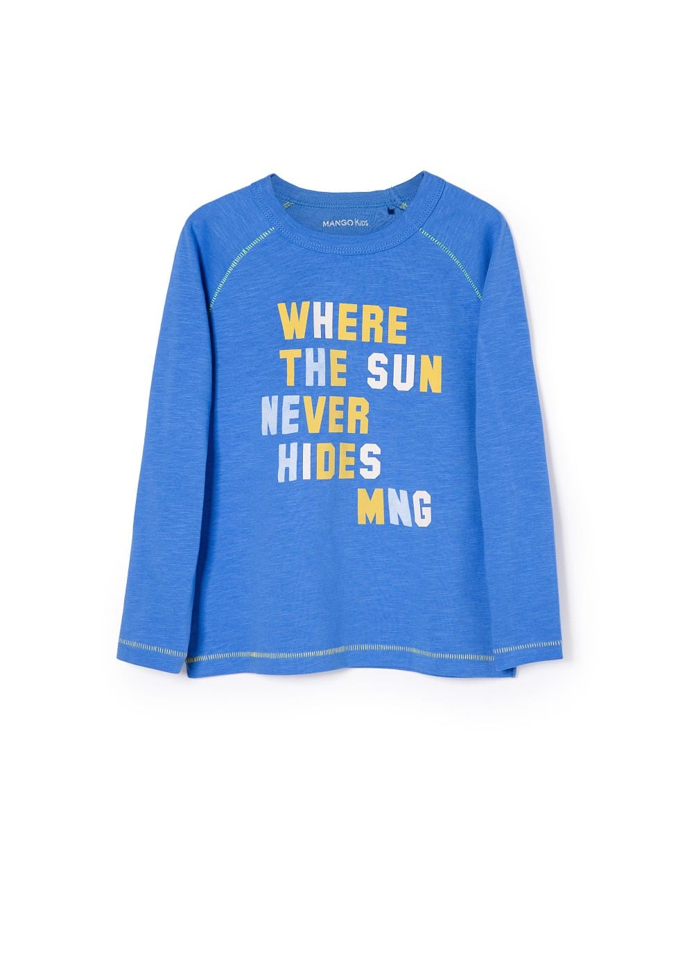 Appliqué cotton t-shirt | MANGO KIDS