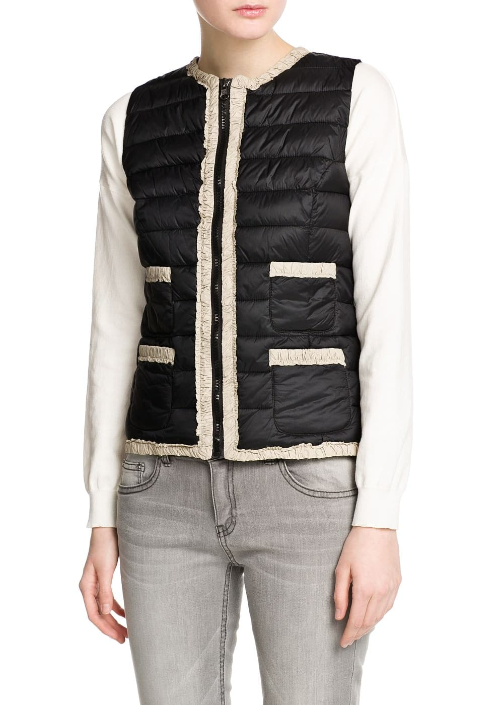 Foldable quilted gilet