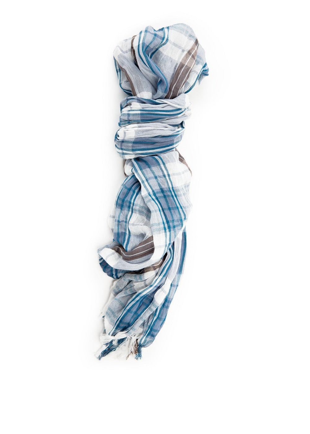 Check cotton scarf