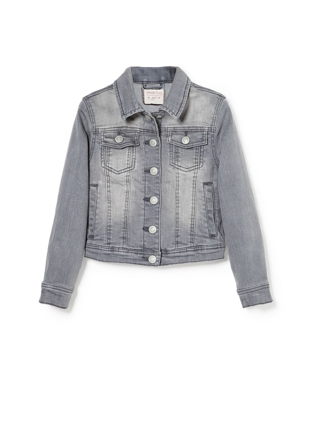Grey denim jacket | MANGO