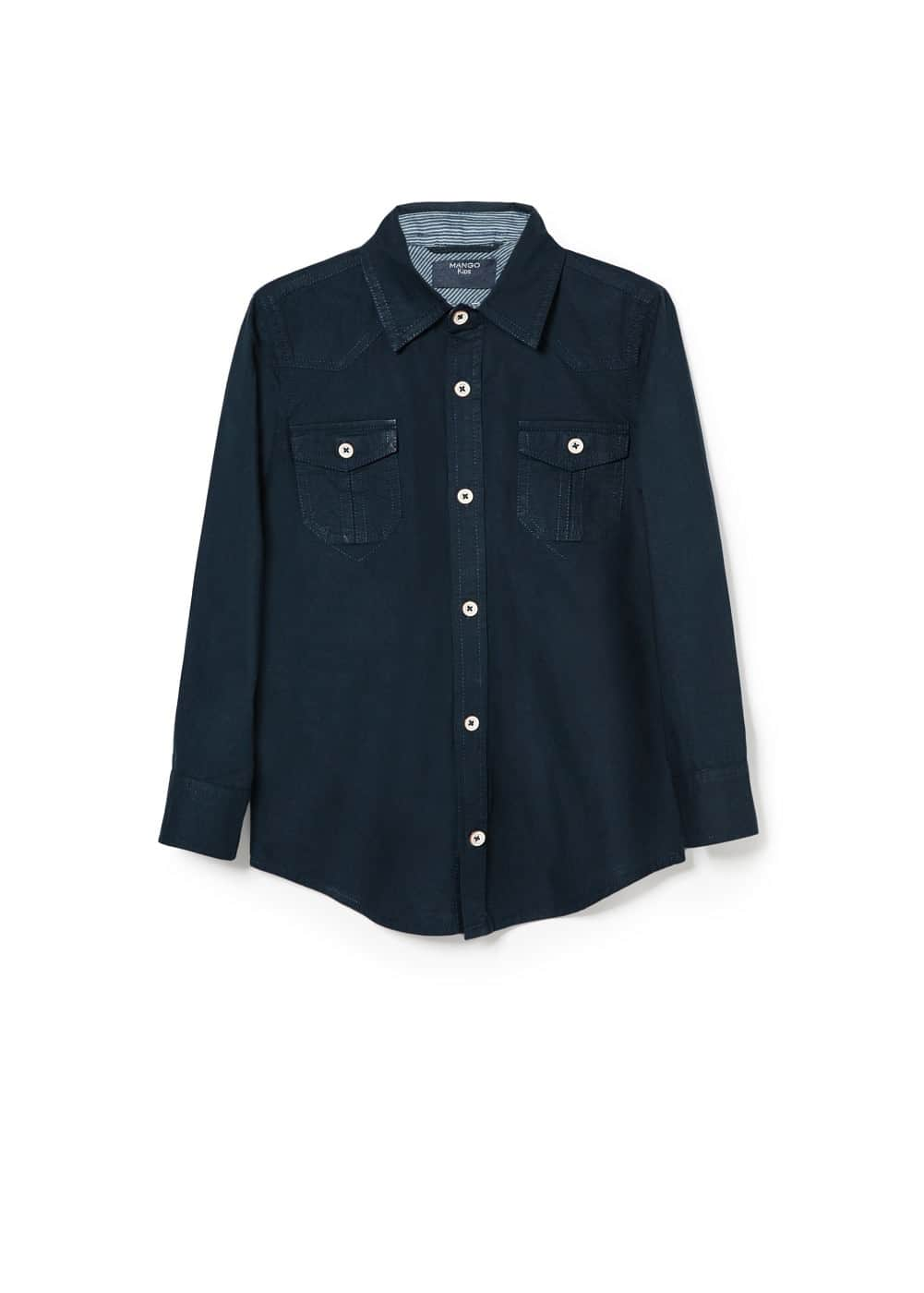 Two-pocket cotton shirt | MANGO KIDS