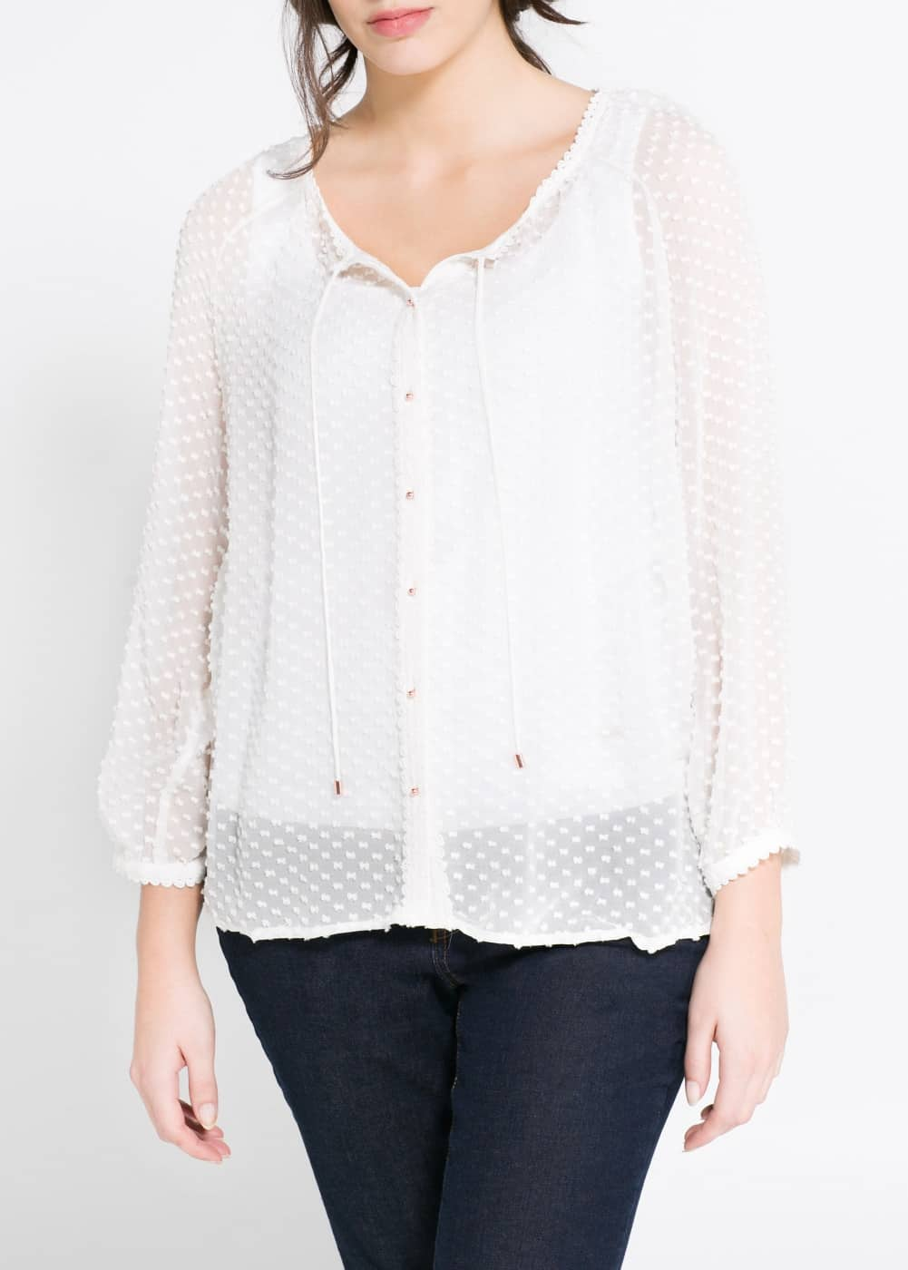 Plumeti silk blouse