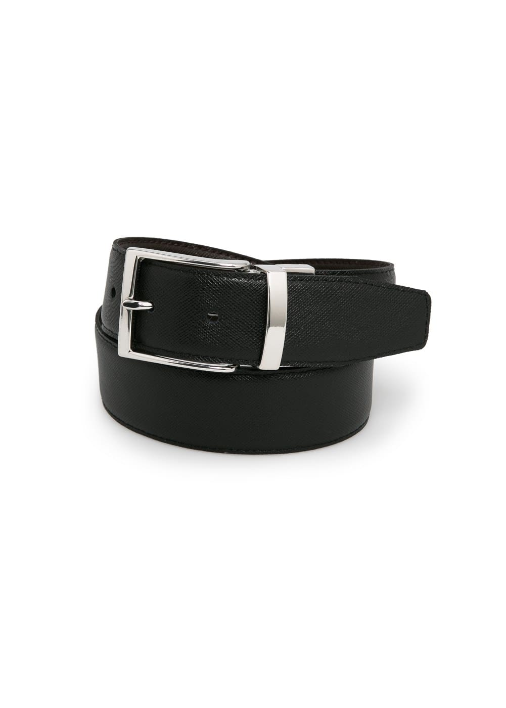 Reversible suit leather belt