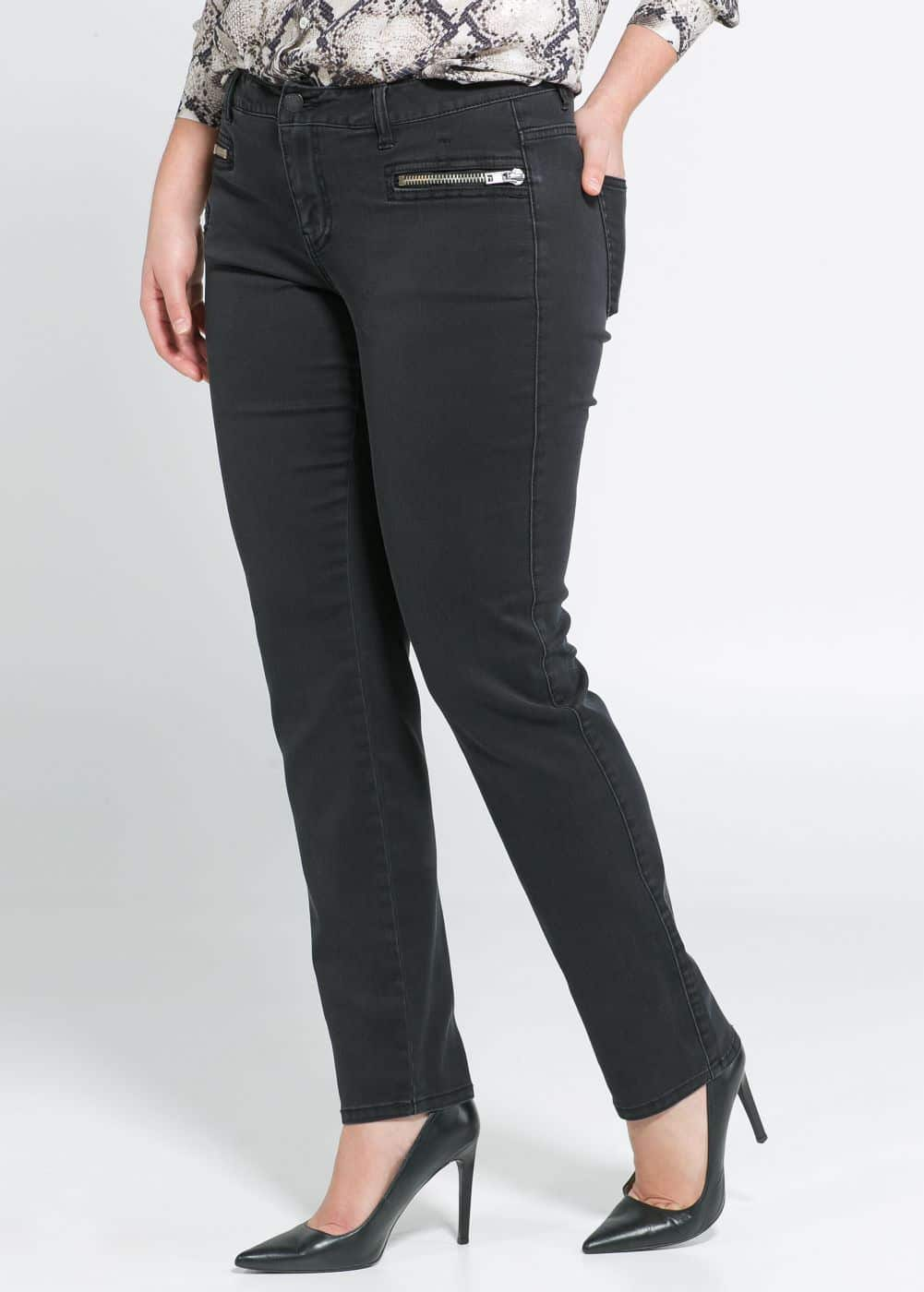 Slim-fit denim trousers