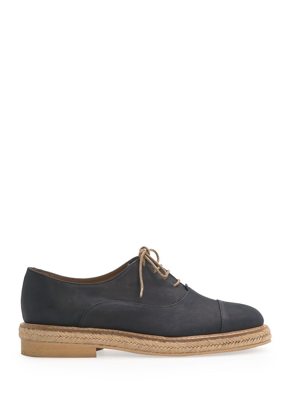 Esparto sole nubuck oxford shoes | MANGO