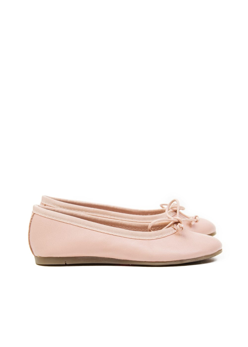 Bow leather ballerinas