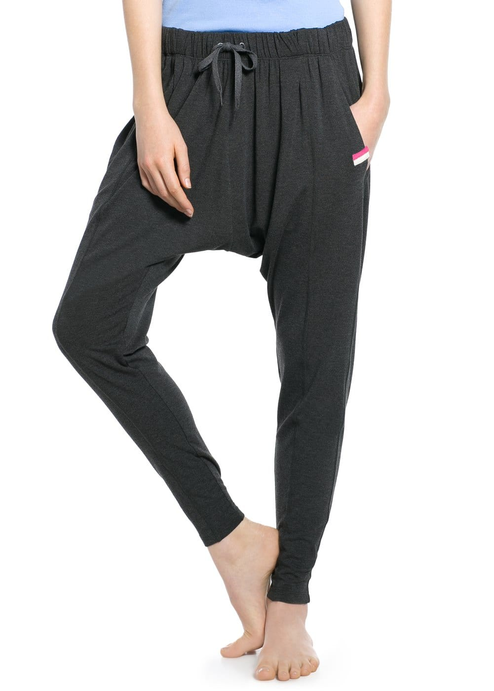 Yoga - long harem trousers | MANGO