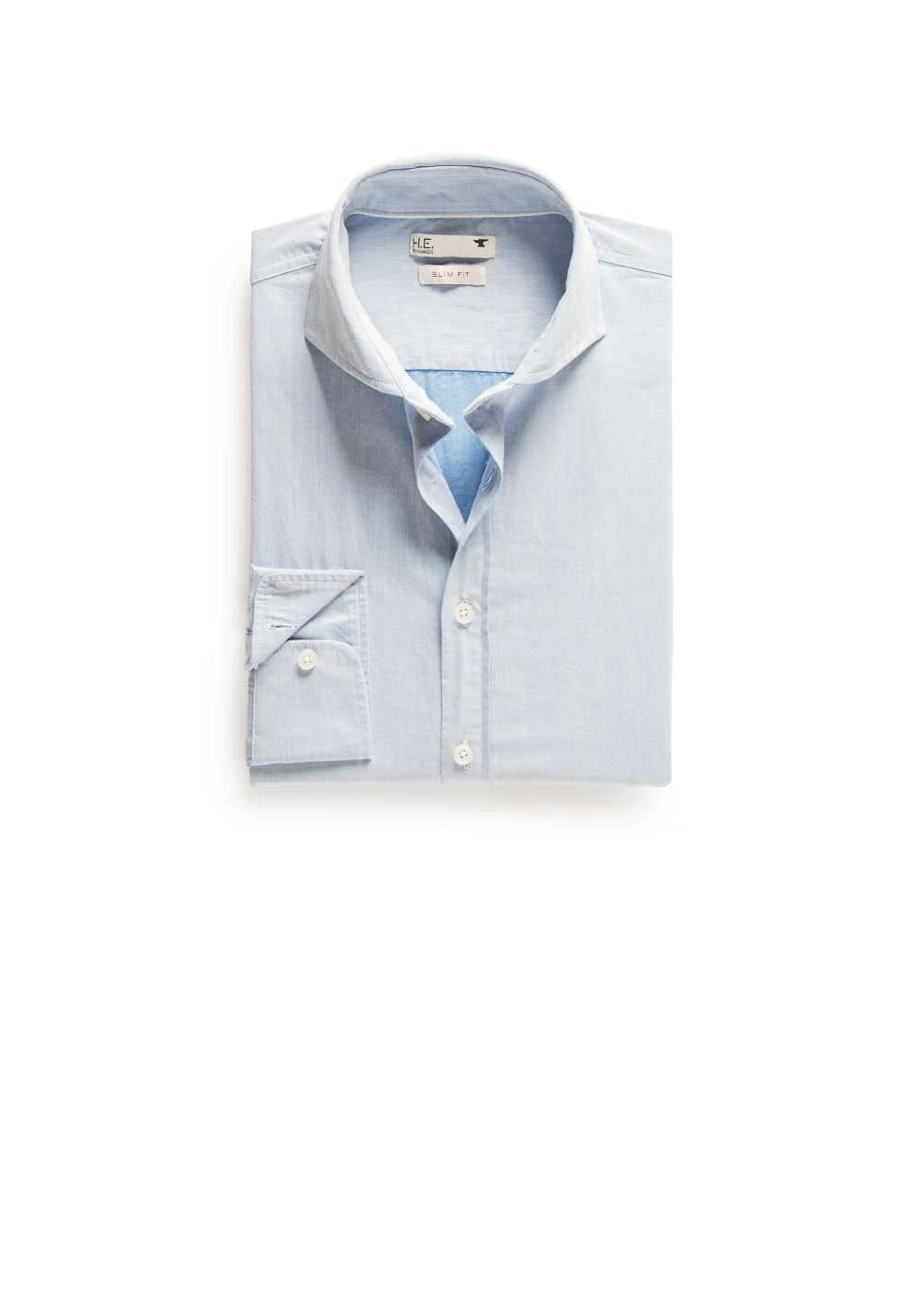 Slim-fit twill cotton shirt | MANGO
