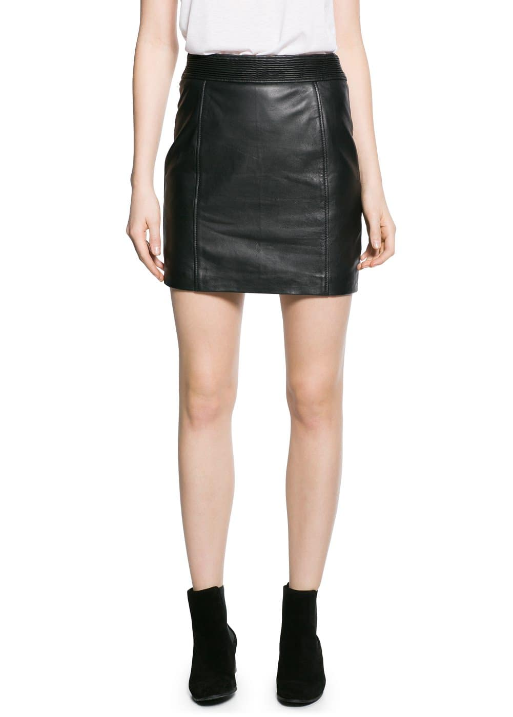 Leather miniskirt | MANGO