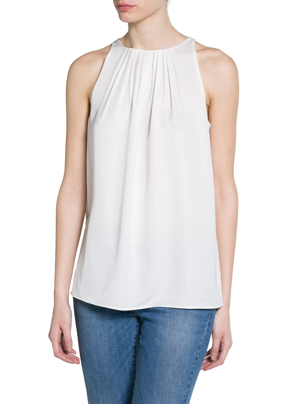Pleated detail top | MANGO