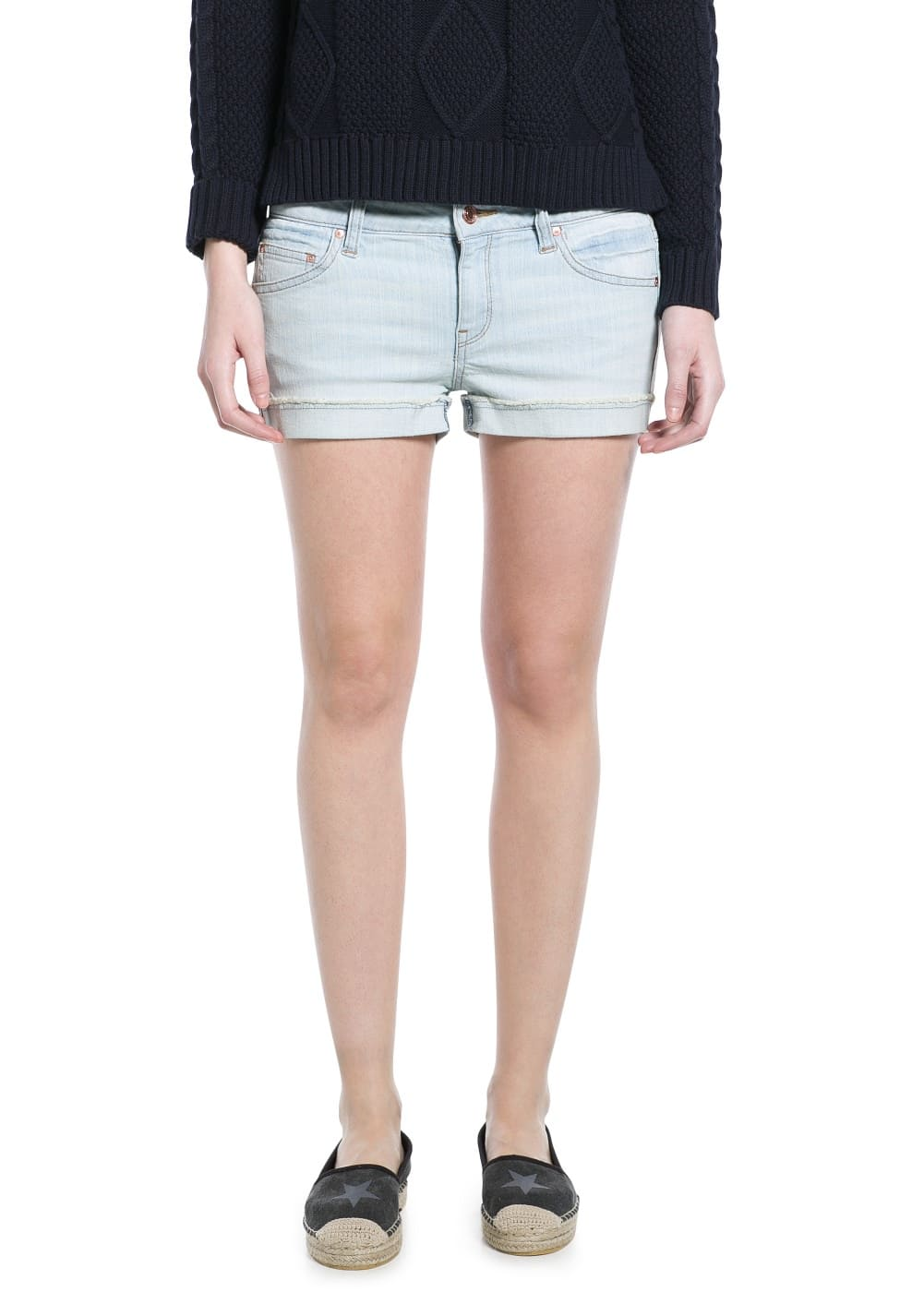 Short denim bleached | MANGO