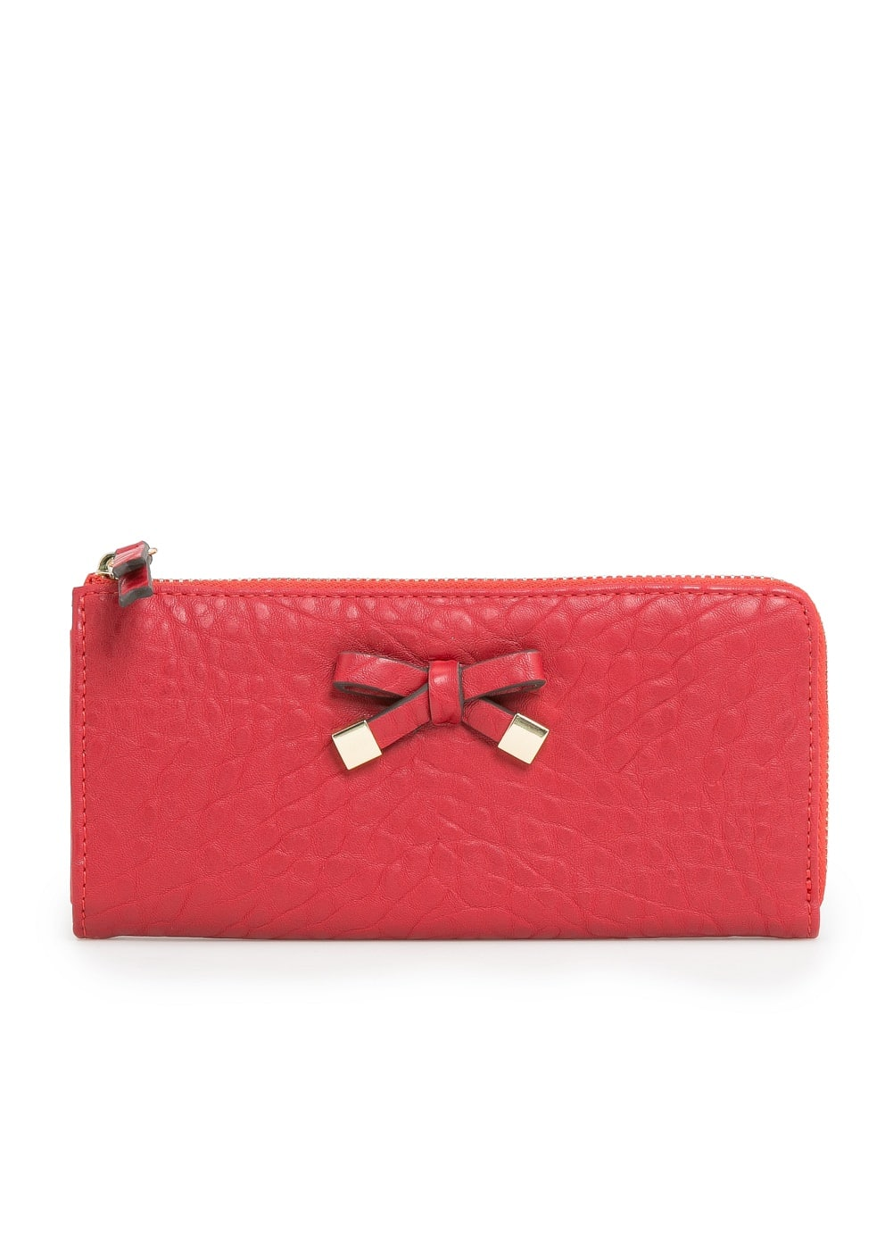Bow pebbled wallet