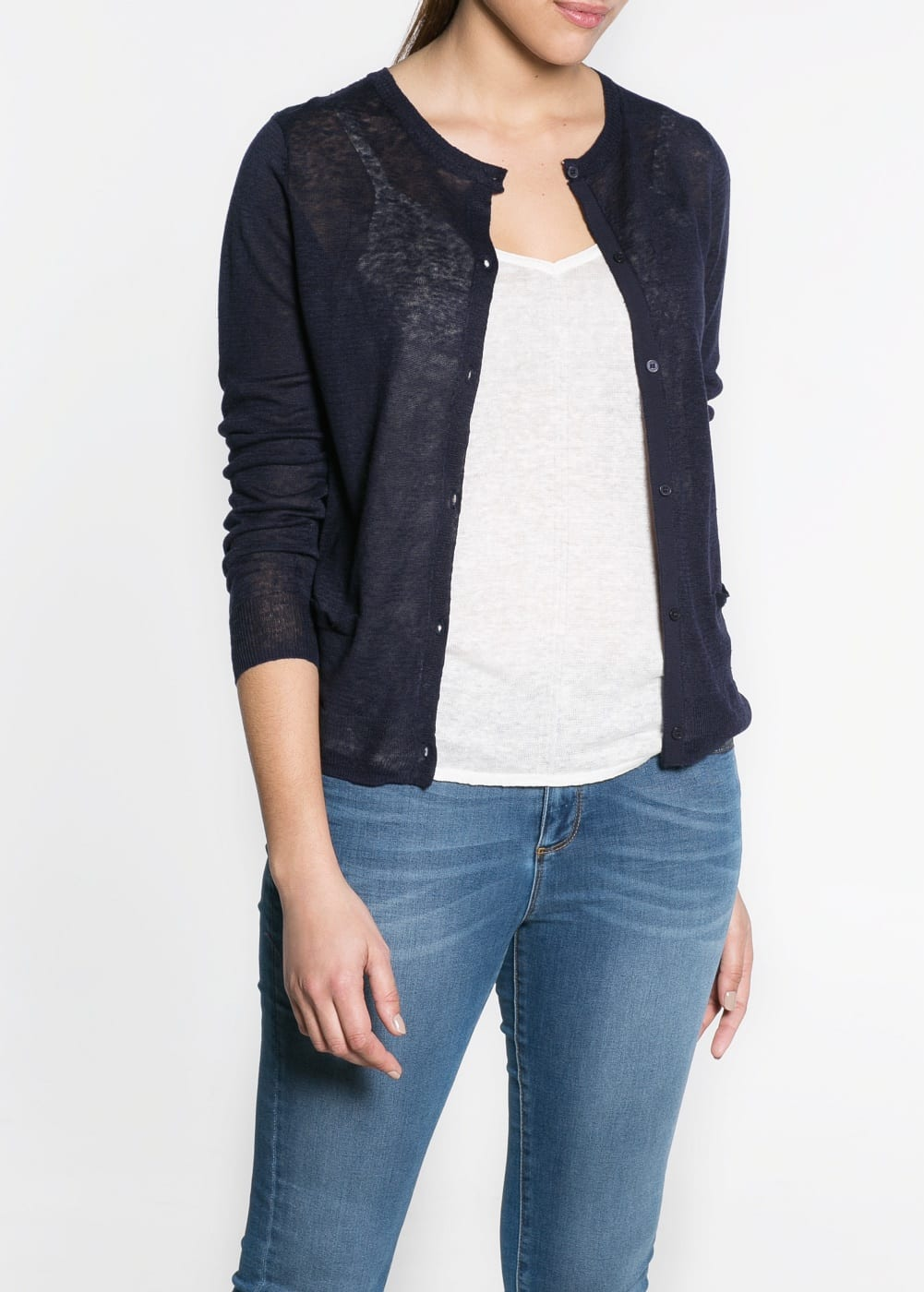 Broderie anglaise linen cardigan