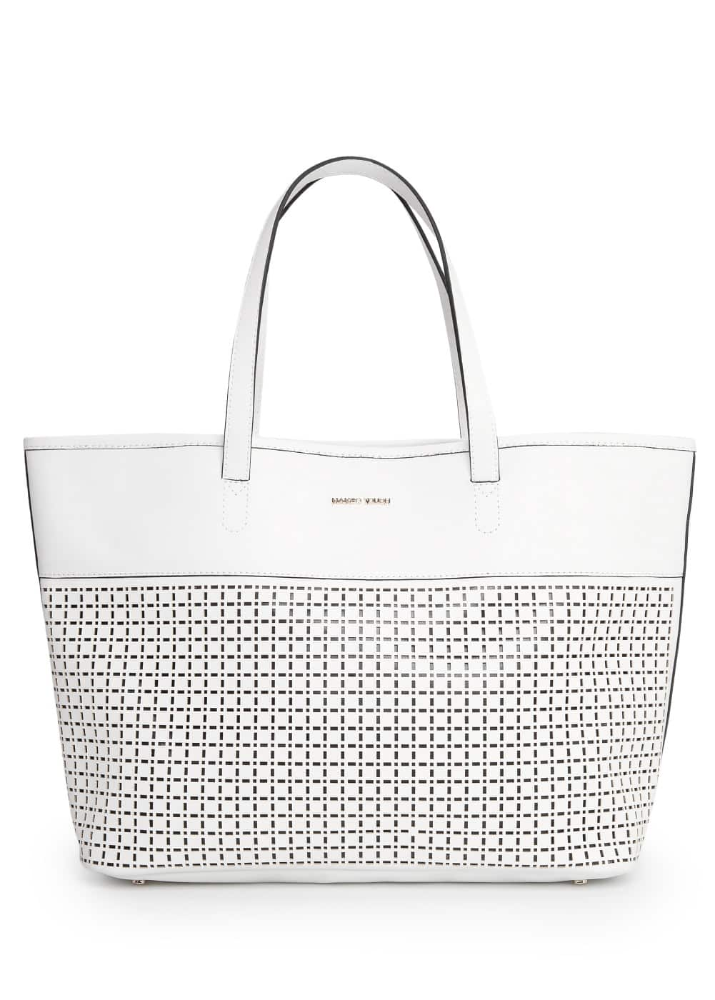Laser-cut shopper bag | MANGO