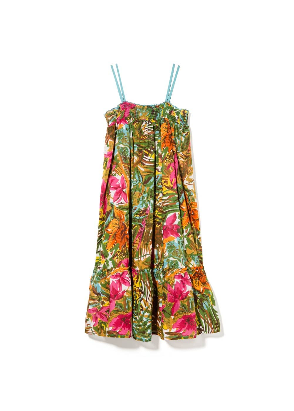 Ruffle tropical dress
