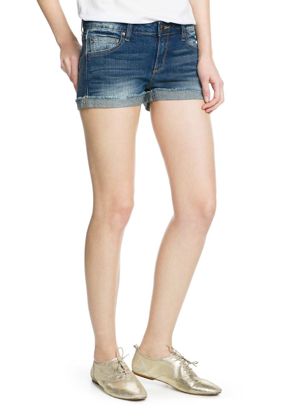 Dark denim shorts | MANGO