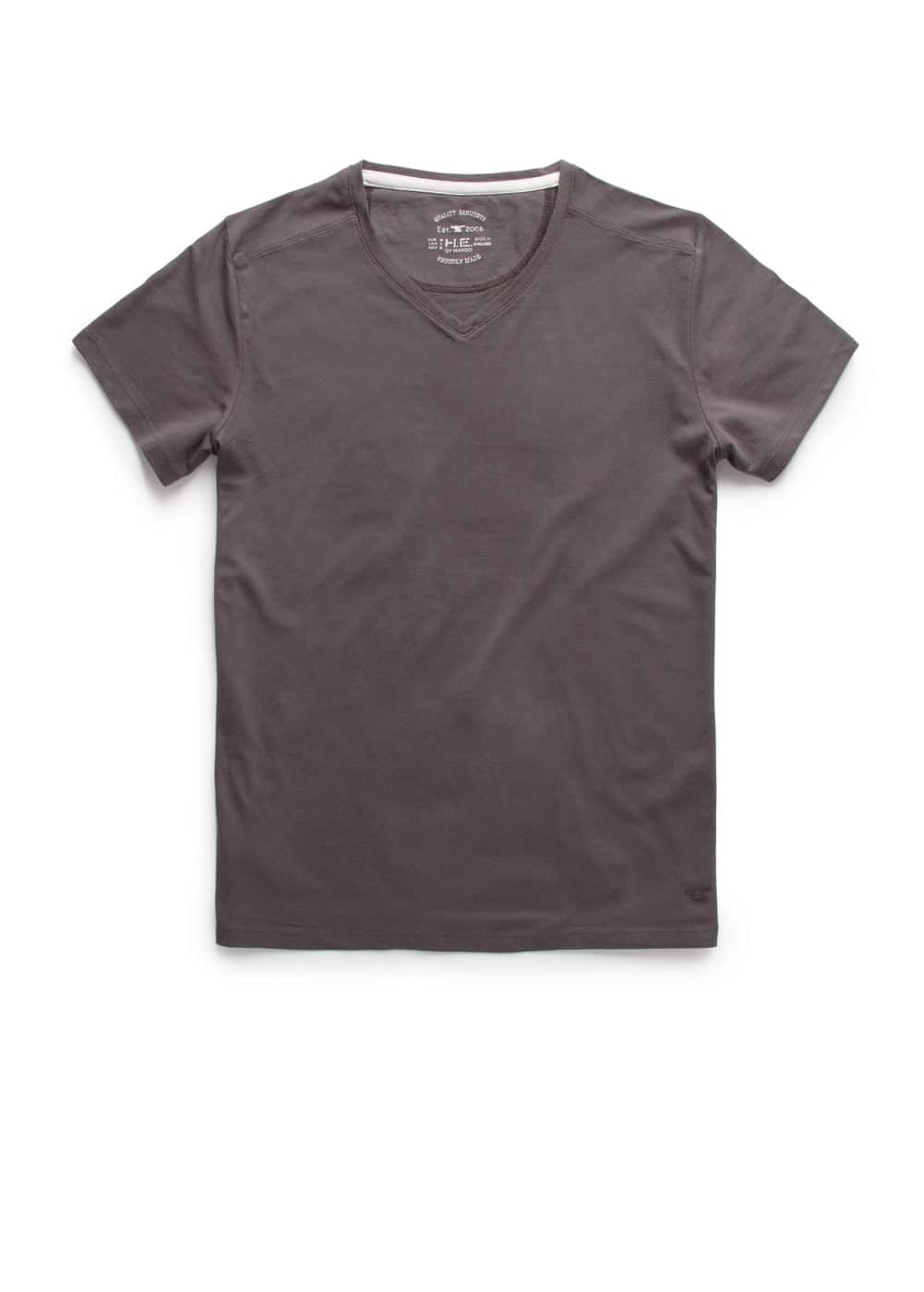 V-neck t-shirt | MANGO MAN