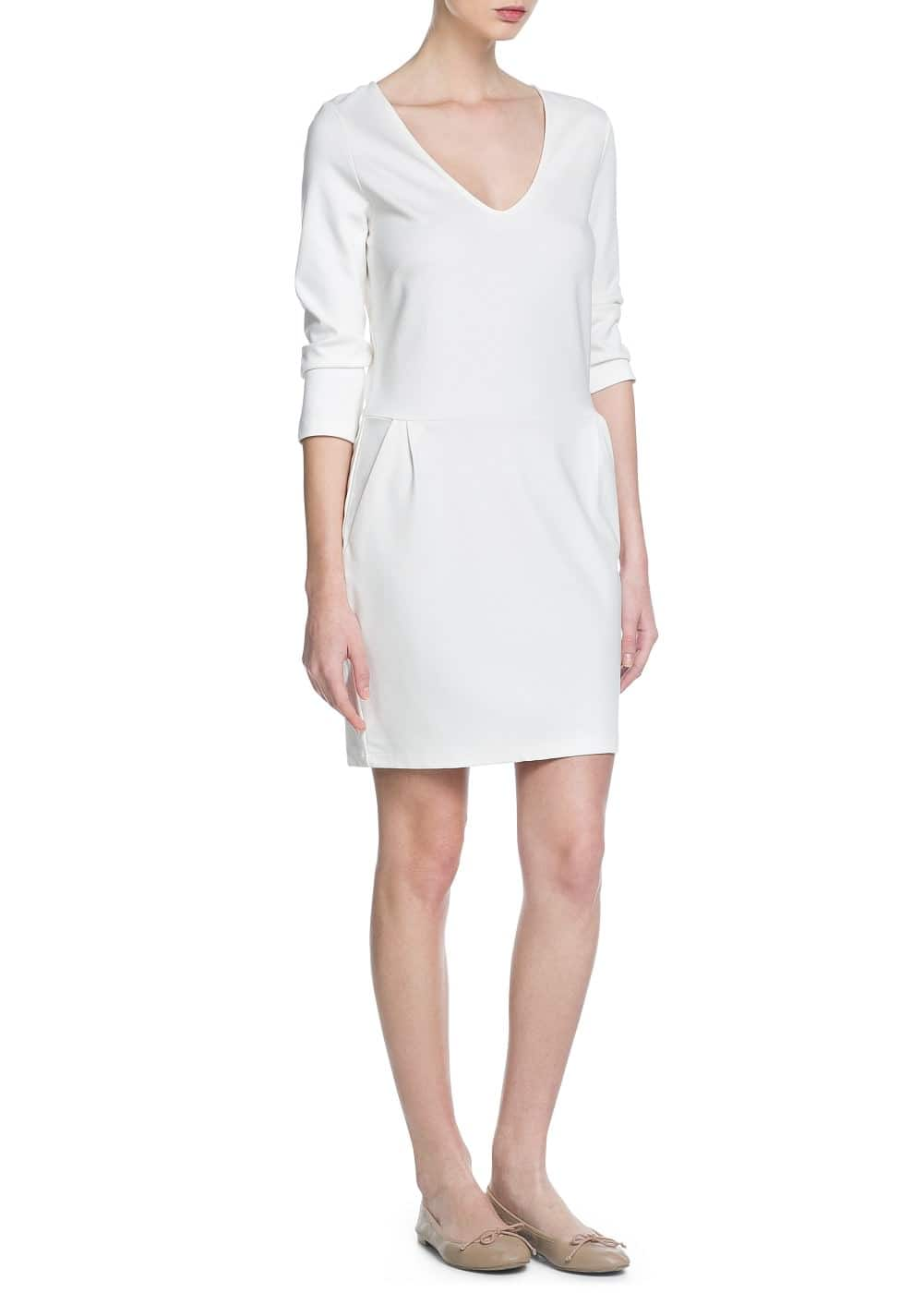 V-neck dress | MANGO