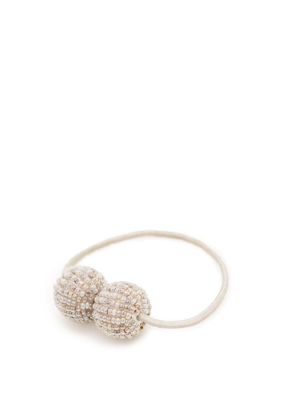 Beaded ball hair tie
