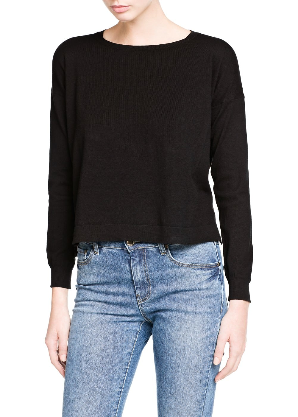 Pull-over basique col rond