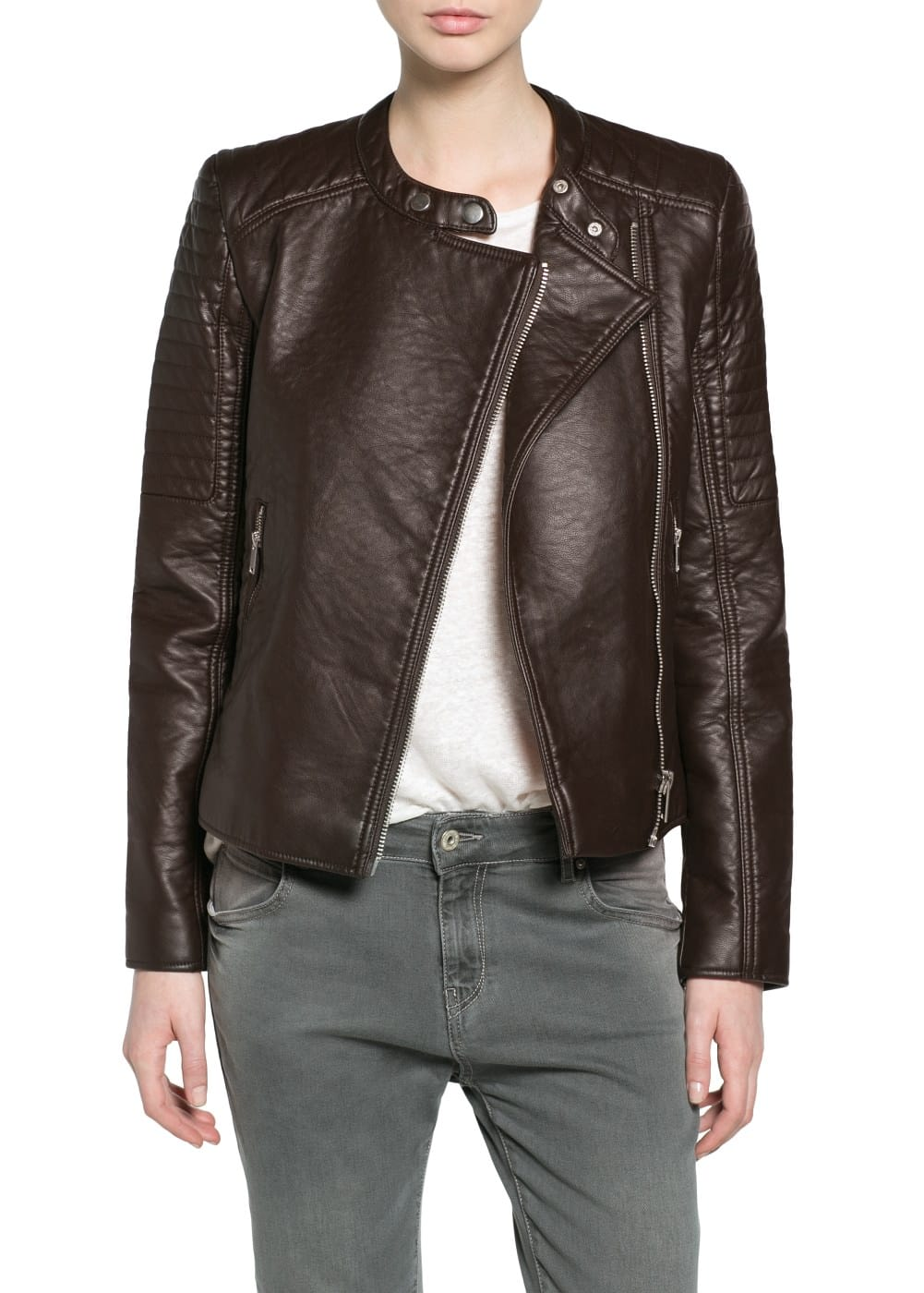 Appliqué biker jacket | VIOLETA BY MANGO