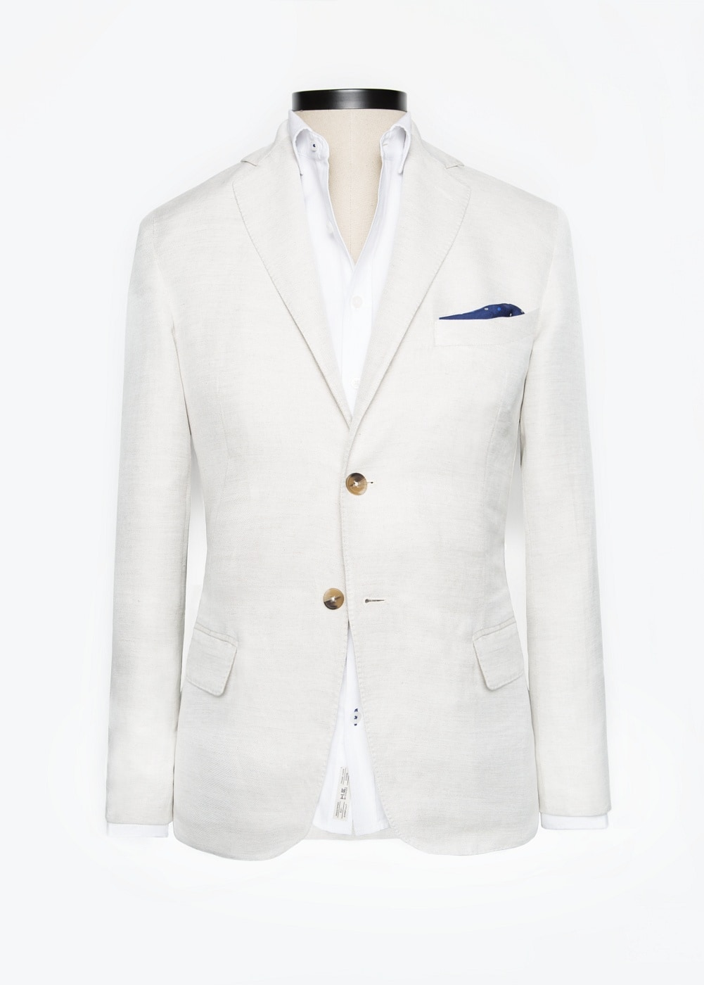 Bird's eye unstructured blazer