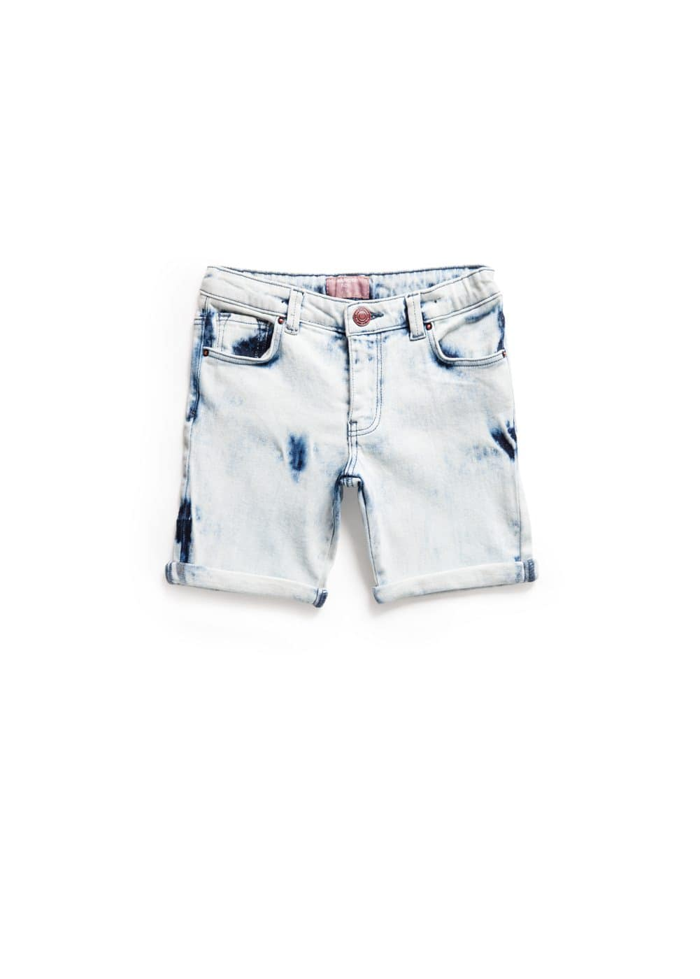 Short denim délavé bleach