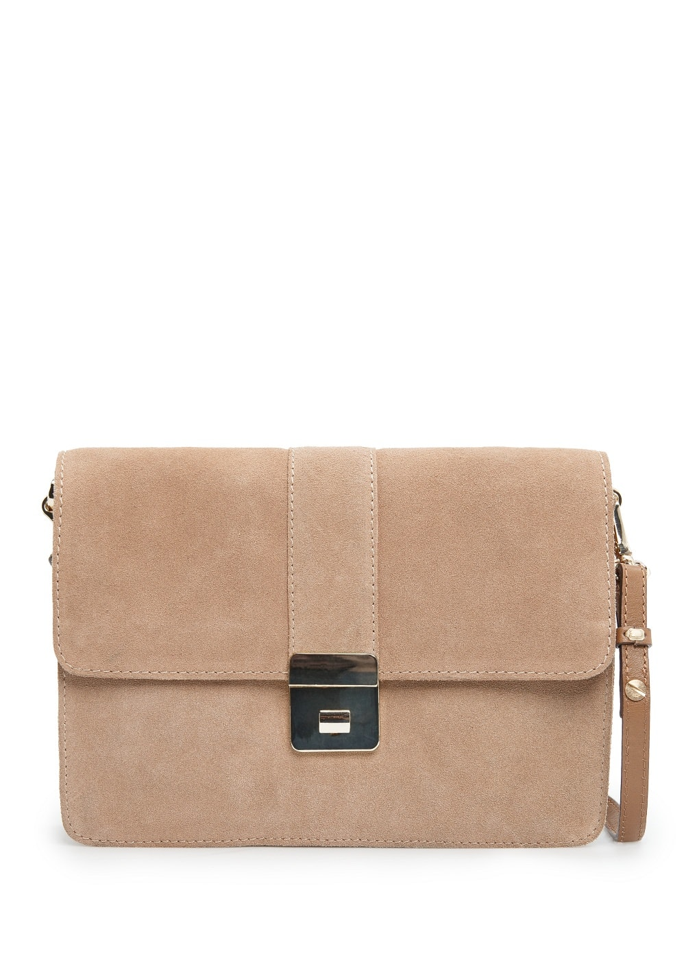Suede cross-body bag | MANGO