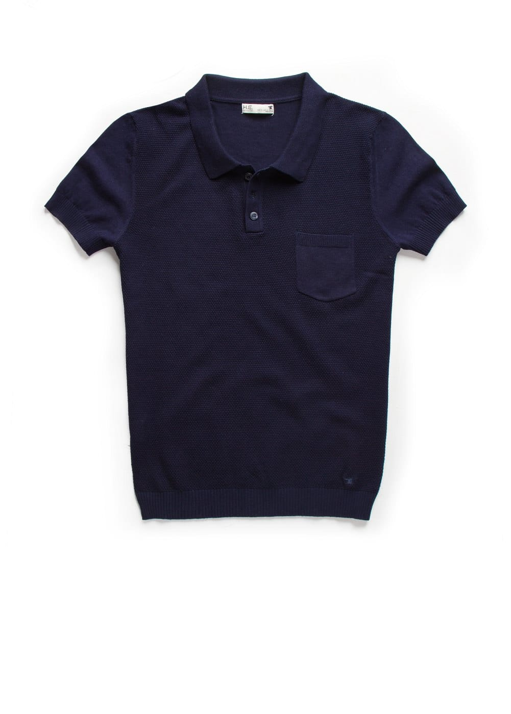 Textured knit polo shirt | MANGO