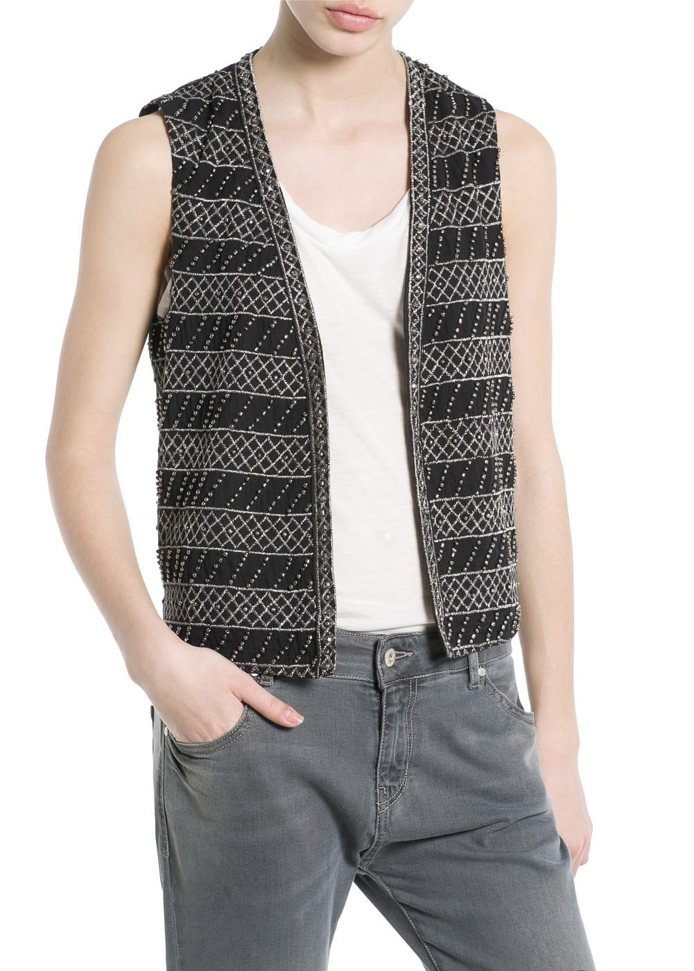 Sequin bead gilet