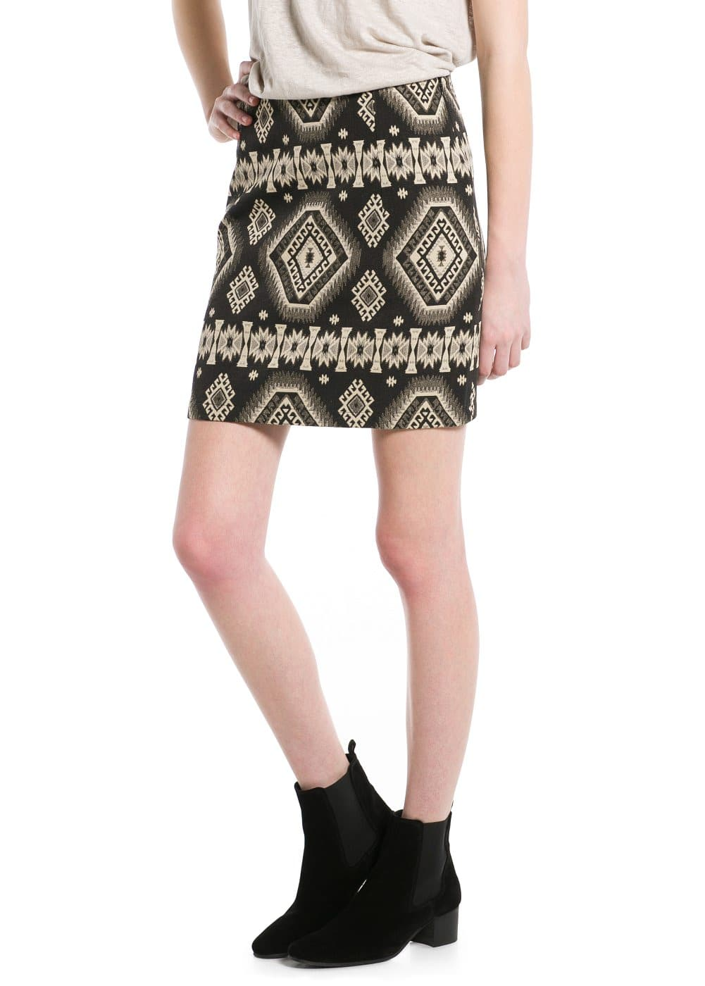 Ethnic jacquard skirt