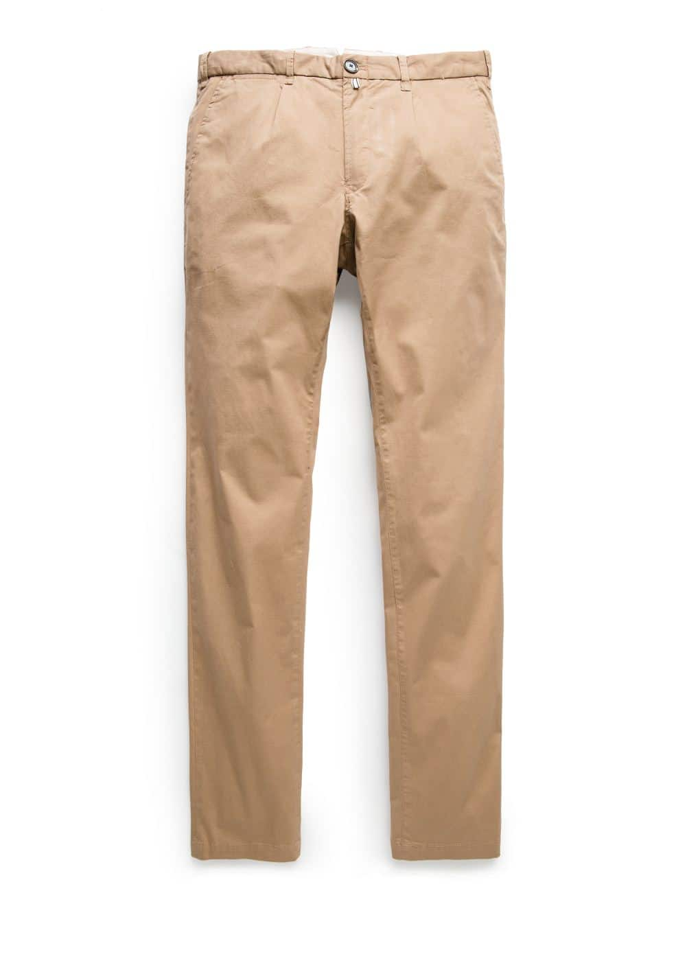 Slim-fit cotton chinos