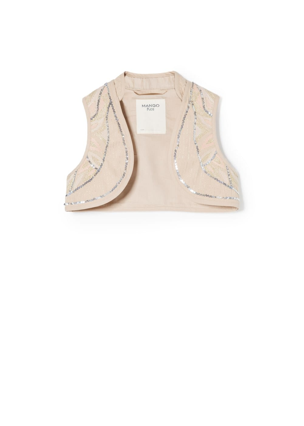 Sequin embroidered vest | MANGO KIDS