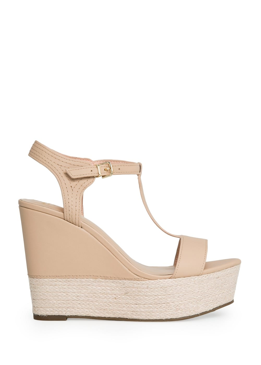 Wedge t-bar sandals | MANGO