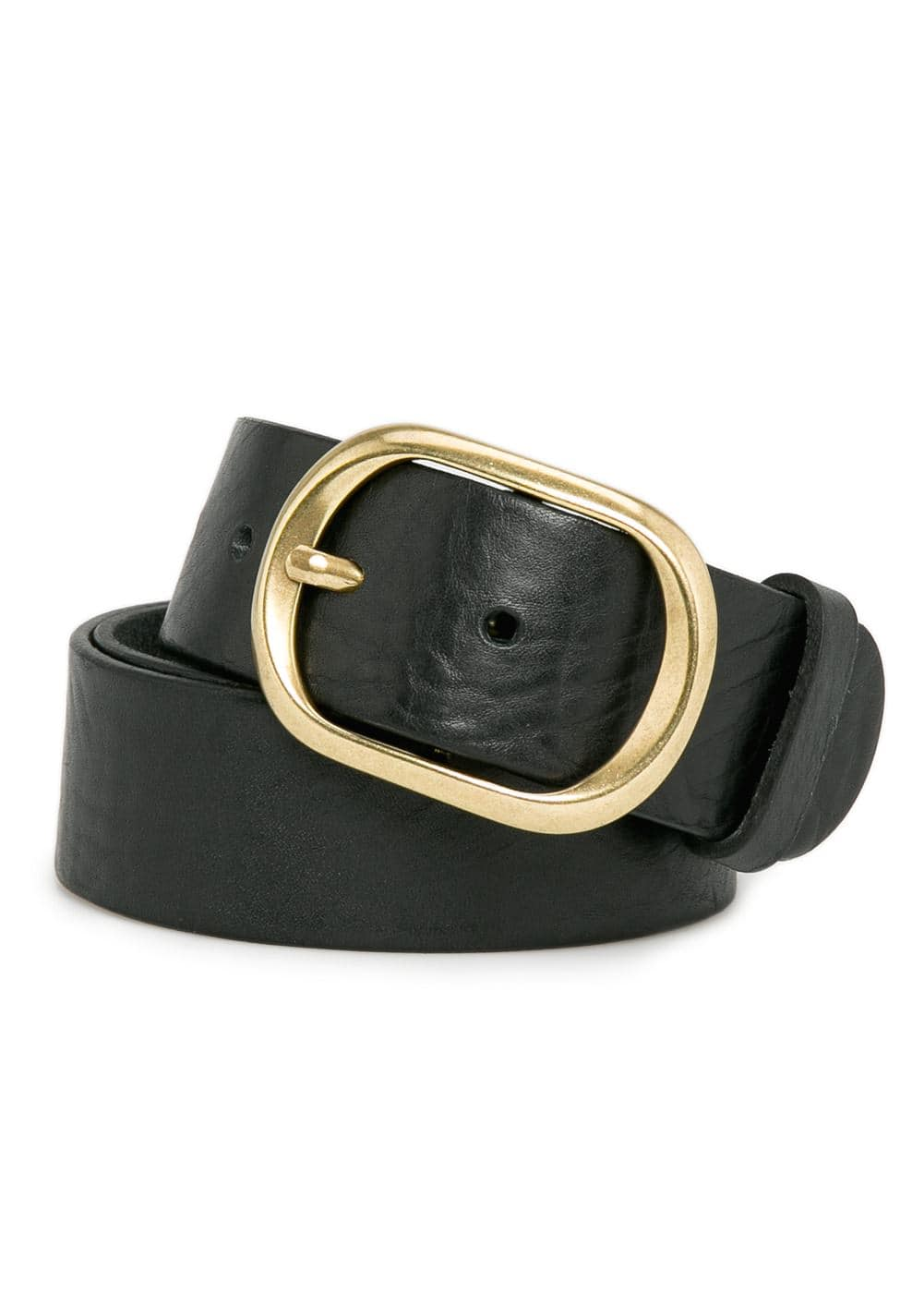 Buckle leather belt | MANGO