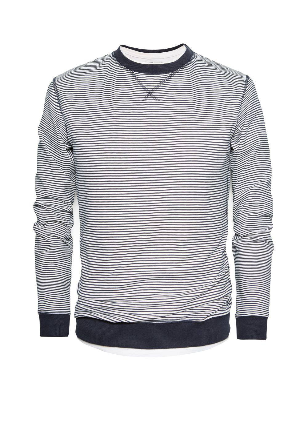 Bicolor striped sweatshirt