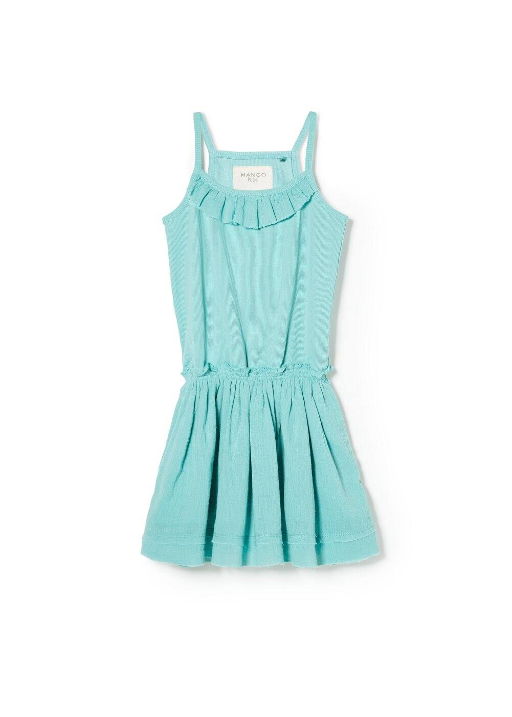Ruffled ribbed dress