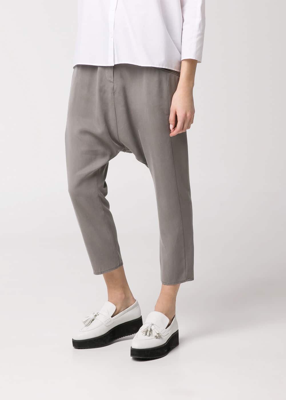 Cropped harem trousers | MANGO