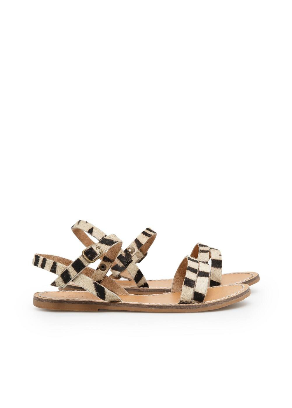 Fur leather sandals | MANGO KIDS