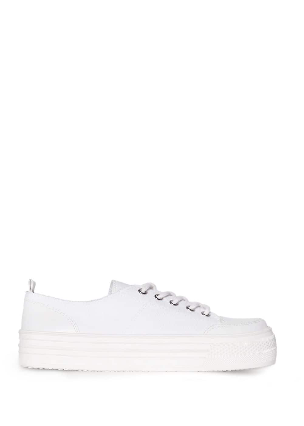 Flatform canvas sneakers | MANGO