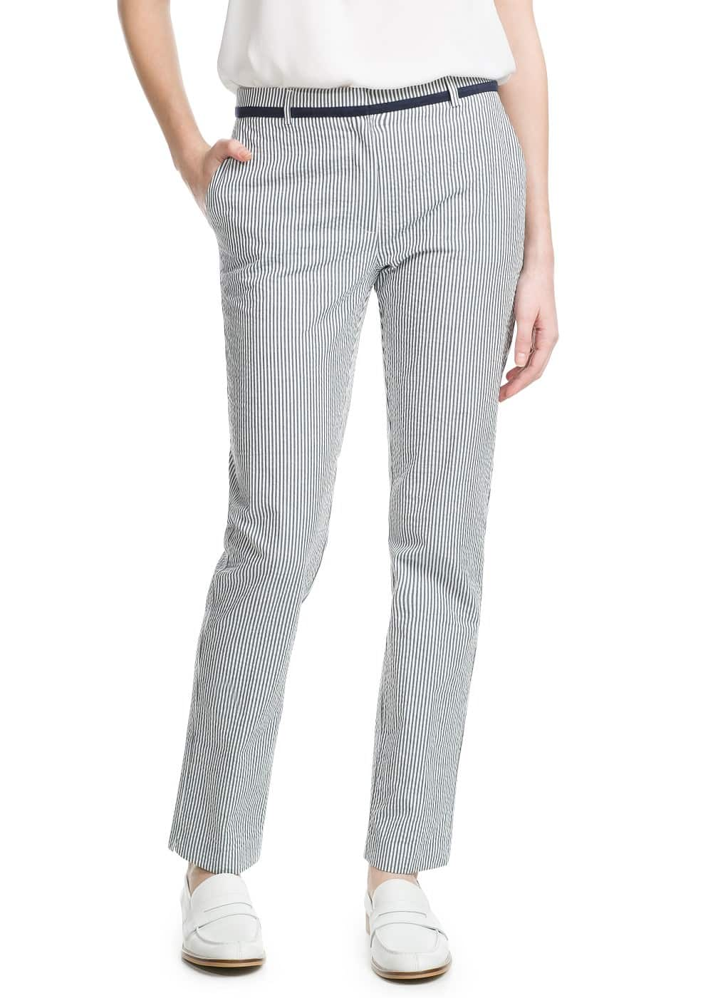 Seersucker suit trousers | MANGO
