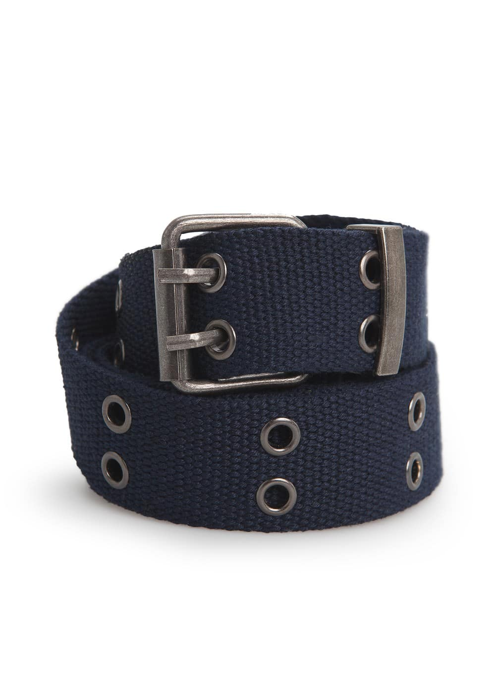 Eyelet canvas belt