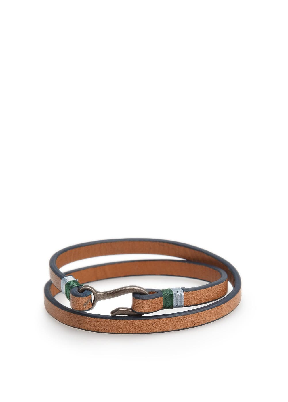Double leather bracelet | MANGO