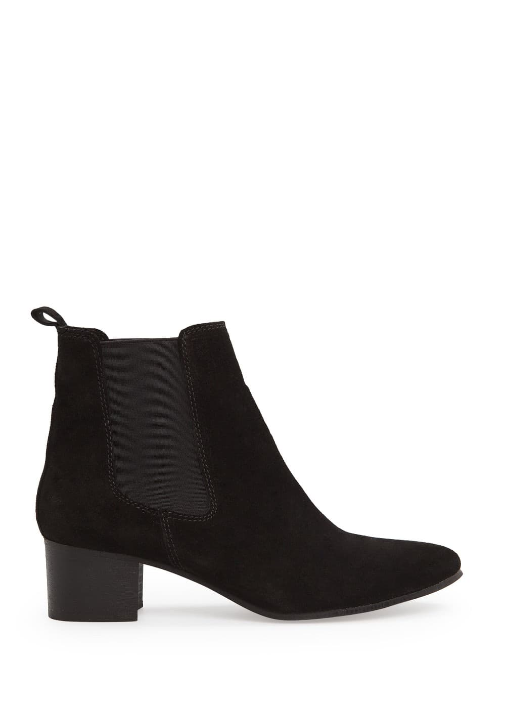 Suede chelsea ankle boots