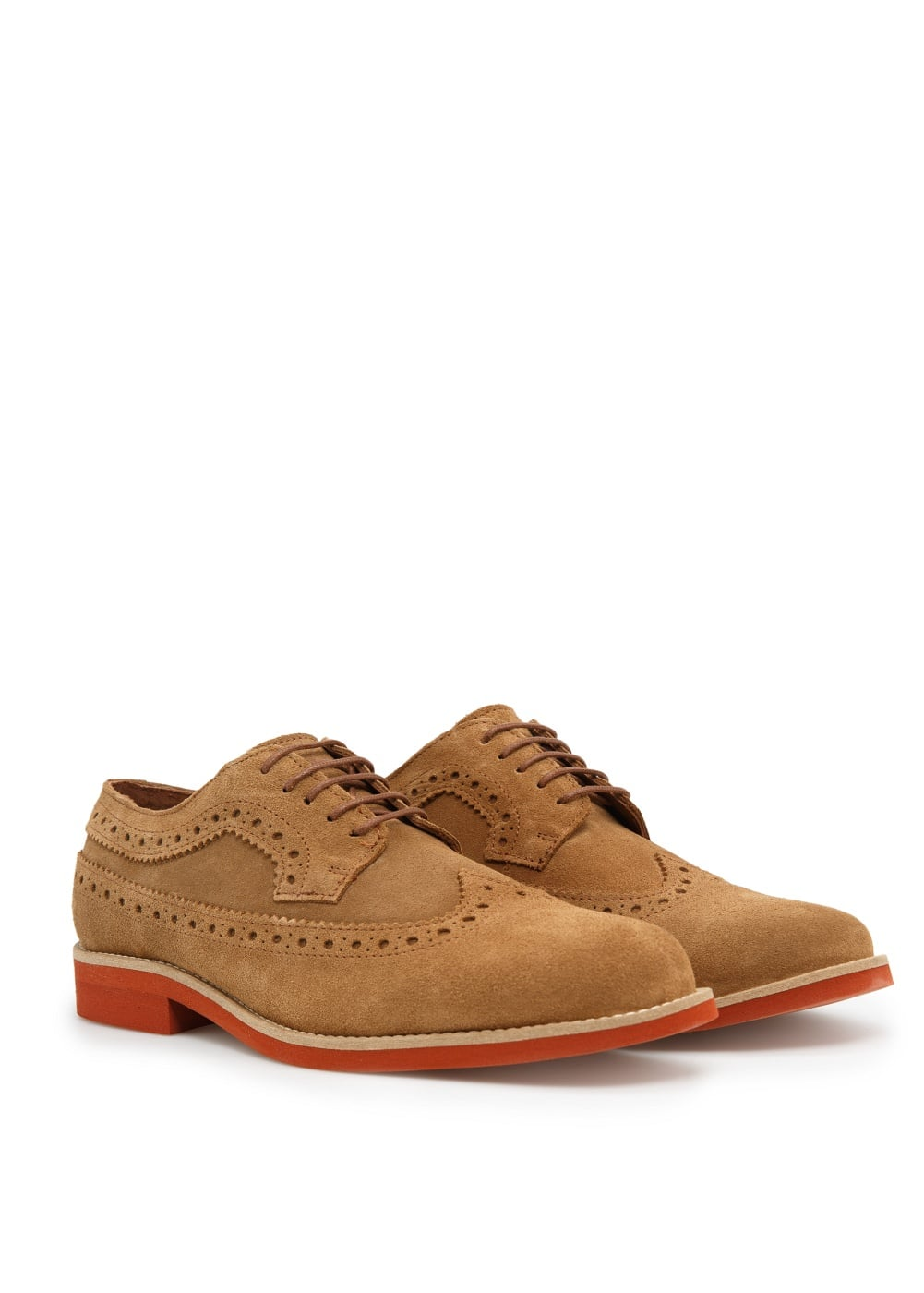 Suede brogue blucher | MANGO