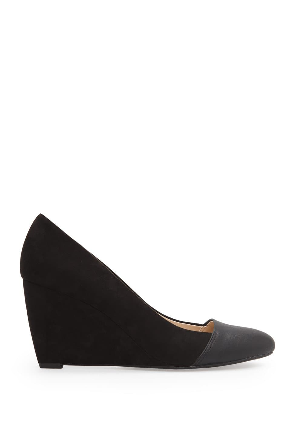 Faux suede wedge shoes