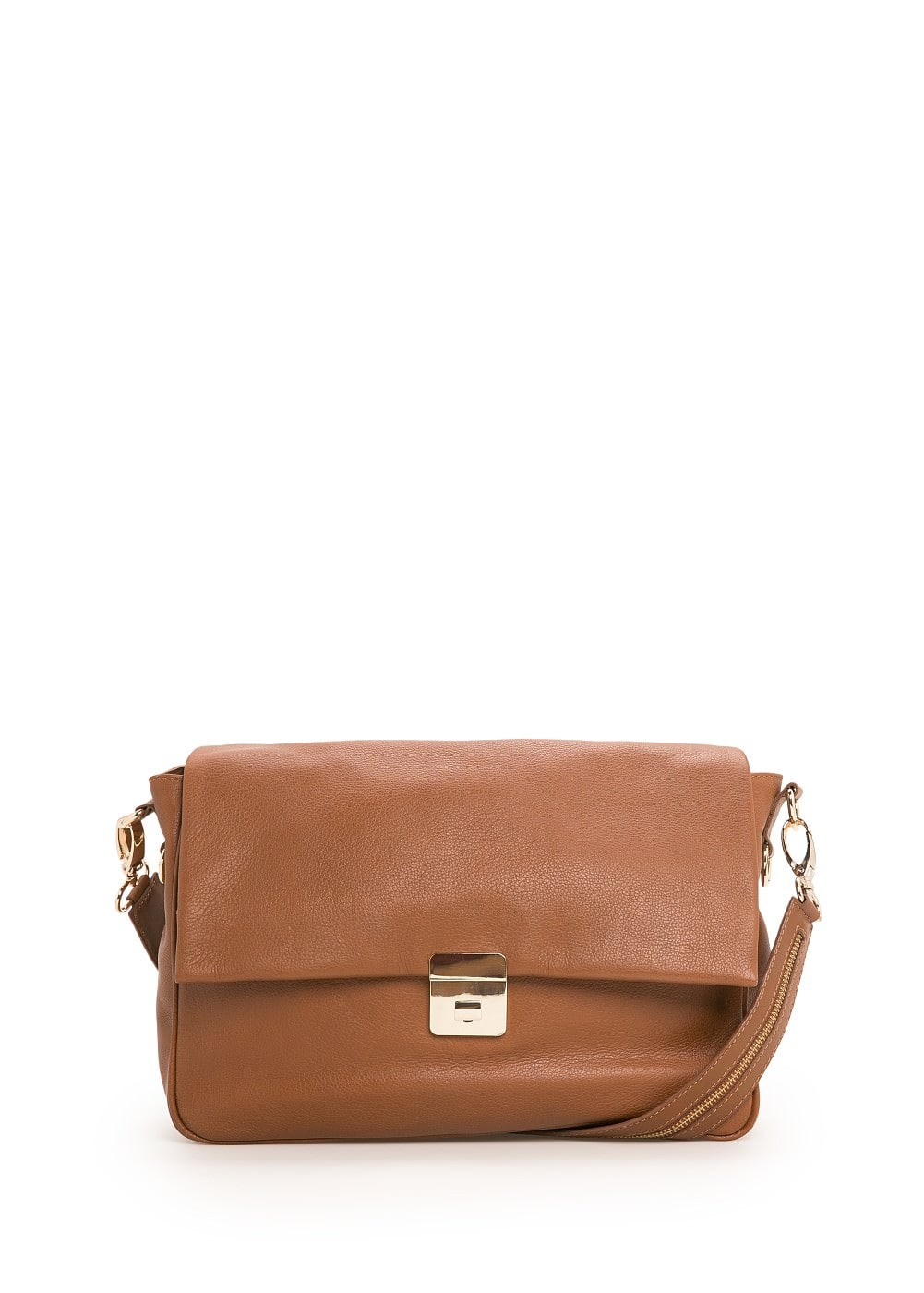 Leather messenger bag | VIOLETA BY MANGO